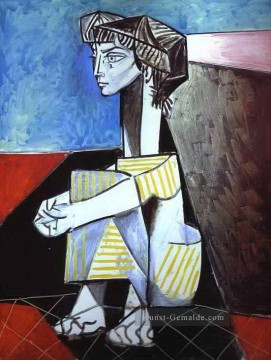 Pablo Picasso Werke - Jacqueline with Crossed Hands 1954 Pablo Picasso