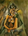 Femme assise 1909 Pablo Picasso
