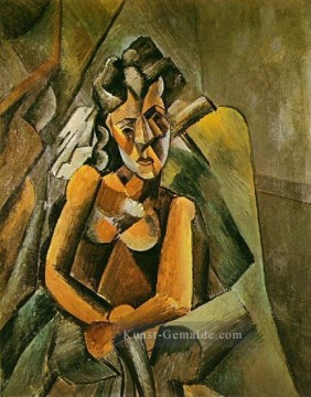 Pablo Picasso Werke - Femme assise 1909 Pablo Picasso