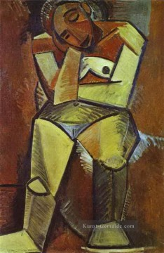 Pablo Picasso Werke - Woman Seated 1908 Pablo Picasso