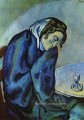 Drunk woman is tired Femme ivre se fatigue 1902 Pablo Picasso