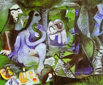 the annunciation 1785 Ölbilder verkaufen - Luncheon on the Grass After Manet 1961 Kubismus Pablo Picasso