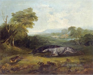 Reinagle Galerie - COLONEL THORNTON TWO CELEBRATED GREYHOUNDS Philip Reinagle