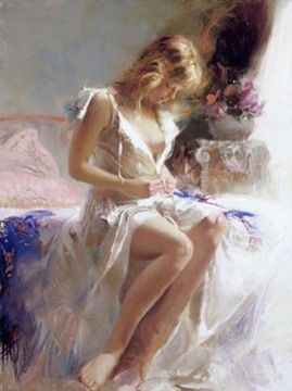 Morgen Künstler - Early Morning Dame Maler Pino Daeni