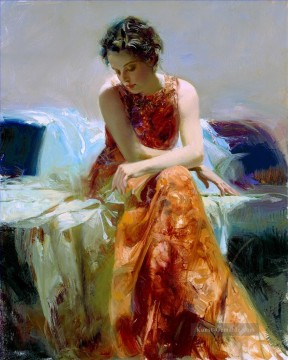 Solace lady painter Pino Daeni detail Ölgemälde