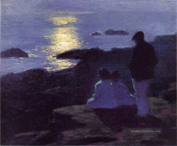 A Summers Night Impressionist Strand Edward Henry Potthast