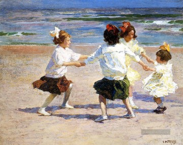 Ring around the Rosy Impressionist Strand Edward Henry Potthast