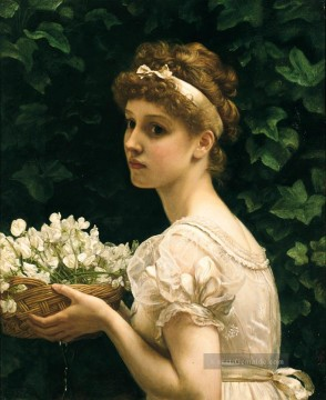 J Pea Blossoms girl Edward Poynter