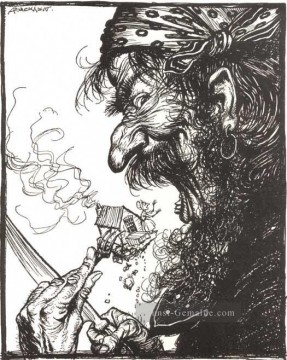 Mutter Gans A little Nothing Frau Illustrator Arthur Rackham Ölgemälde