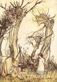 Mutter Gans Mann in der Wildnis Illustrator Arthur Rackham