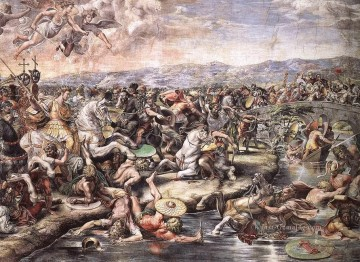 Raphael Werke - The Battle at Pons Milvius detail1 Renaissance master Raphael