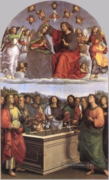 Raphael Werke - The Crowning of the Virgin Oddi altar Renaissance Meister Raphael