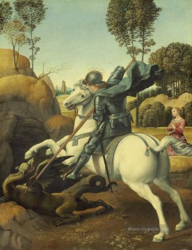 Raphael Werke - St George and the Dragon Renaissance Meister Raphael