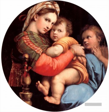 Raphael Werke - The Madonna of the Chair Renaissance Meister Raphael