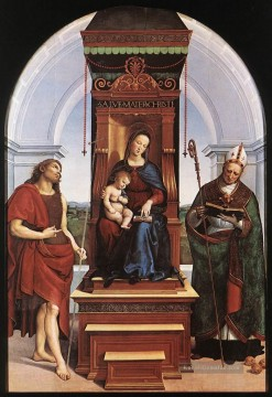 Raphael Werke - Madonna and Child The Ansidei Altarpiece Renaissance Meister Raphael