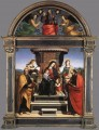 Madonna and Child Enthroned with Saints 1504 Renaissance Meister Raphael