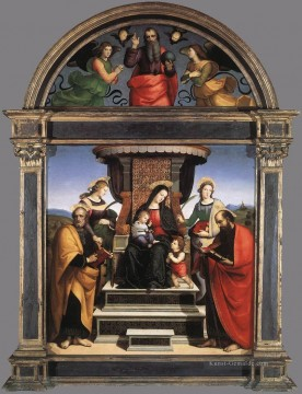 Raphael Werke - Madonna and Child Enthroned with Saints 1504 Renaissance Meister Raphael