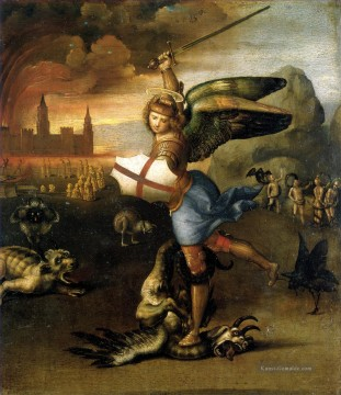 Raphael Werke - Saint Michael and the Dragon Renaissance Meister Raphael