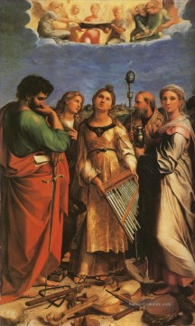 Raphael Werke - St Cecilia with Sts Paul John Evangelists Augustine and Mary Magdalene master Raphael