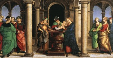 Raphael Werke - The Presentation in the Temple Oddi altar predella Renaissance Meister Raphael