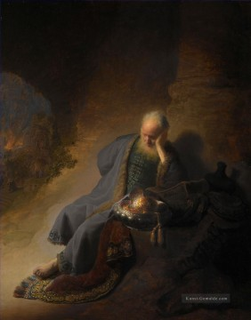 Rembrandt van Rijn Werke - Jeremiah Lamenting the Destruction of Jerusalem Porträt Rembrandt