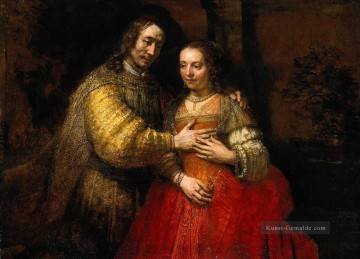 Rembrandt van Rijn Werke - Porträt of Two Figures from the Old Testament known as The Jewish Bride Barock Rembrandt