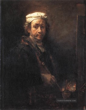 Rembrandt van Rijn Werke - Porträt of the Artist at His Easel 1660 Rembrandt