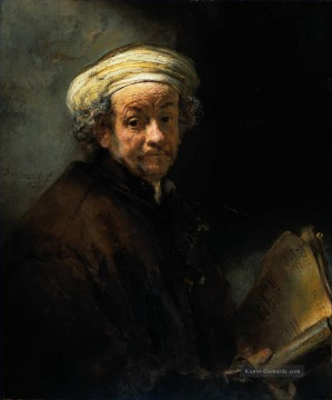 Rembrandt van Rijn Werke - Self Porträt as the Apostle St Paul Rembrandt
