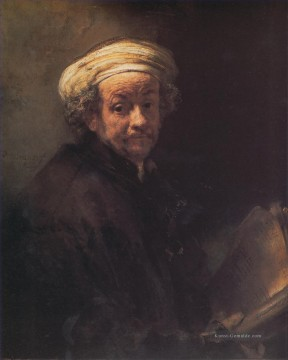 Rembrandt van Rijn Werke - Self Porträt as the Apostle Paul Rembrandt