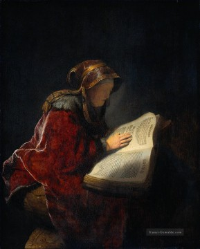 Rembrandt van Rijn Werke - The Prophetess Anna known ass Mother Rembrandt