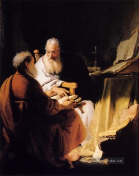 Rembrandt van Rijn Werke - Two Old Men Disputing Rembrandt
