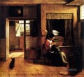 De The Mother genre Pieter de Hooch