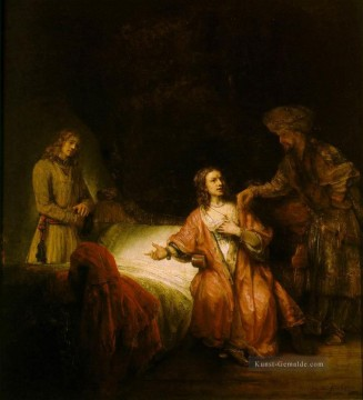 Joseph Accused by Potiphars Wife Rembrandt Ölgemälde