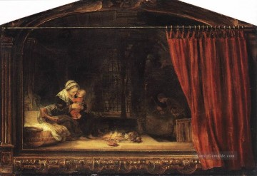Rembrandt van Rijn Werke - The Holy Family with a Curtain Rembrandt