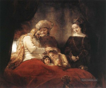 Rembrandt van Rijn Werke - Jacob Blessing the Children of Joseph Rembrandt