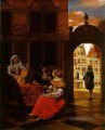 Musical Party im Courtyard Genre Pieter de Hooch