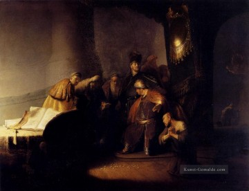 Rembrandt van Rijn Werke - Repentant Judas Returning The Pieces Of Silver Rembrandt