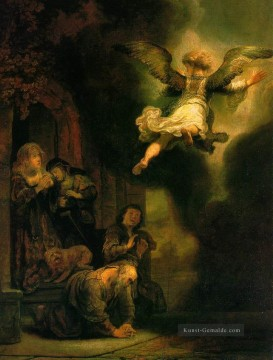 Rembrandt van Rijn Werke - The Archangel Leaving the Family of Tobias Rembrandt