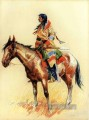 A Rasse Old American West cowboy Indian Frederic Remington
