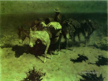 Frederic Remington Werke - ein Satz Zug Old American West Frederic Remington