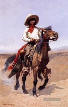 Frederic Remington Werke - Ein Regiment Scout Old American West Frederic Remington