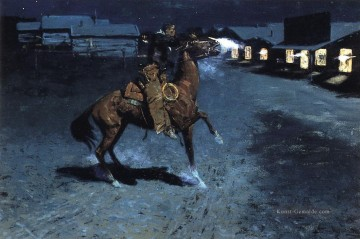 Frederic Remington Werke - Ein Arguement mit der Stadt Marshall Old American West Frederic Remington