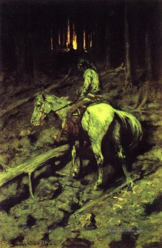 Frederic Remington Werke - Apache Feuer Signal Old American West Frederic Remington