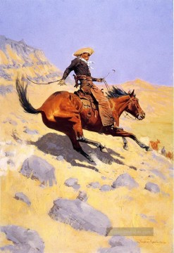 Frederic Remington Werke - der Cowboy 1902 Frederic Remington