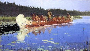 Frederic Remington Werke - Radisson und Groseilliers Old American West Frederic Remington