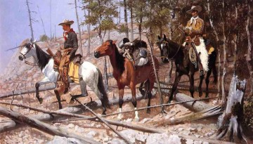 Frederic Remington Werke - Prospecting für Rinder Strecke Old American West Frederic Remington