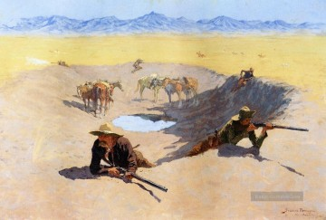 Frederic Remington Werke - Fight for the Water Hole Old American West Frederic Remington