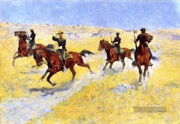 Frederic Remington Werke - das Vordringen 1898 Frederic Remington