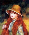 girl with a straw hat Pierre Auguste Renoir