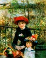 Two Sisters On the Terrace master Pierre Auguste Renoir